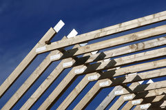 Roof Beams Royalty Free Stock Photo