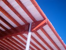Roof of beams royalty free stock images
