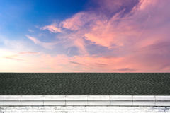Roof and beautiful sky Stock Photography