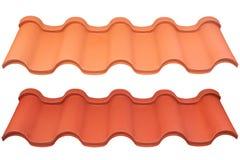 Roof belägger med metall Fotografering för Bildbyråer