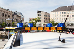 Roof of a Belgian police car Royalty Free Stock Photography