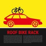 Roof Bike Rack. Bicycle Rack Silhouette Illustration Stock Photos