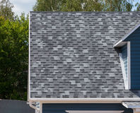 The roof with bitumen shingles Royalty Free Stock Images