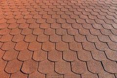 Roof with bituminous coating Stock Photo
