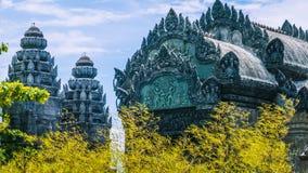 Roof of bizarre skulptur wat in bamboo Royalty Free Stock Image