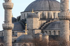 Roof of Blue Mosque. The Sultan Ahmed Mosque (Turkish: Sultanahmet Camii) is a historical mosque in Istanbul, the largest city in Turkey and the capital of the Stock Images