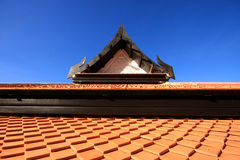 Roof and blue sky Stock Image