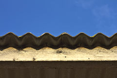 Roof and blue sky. Basic roof with blue sky Royalty Free Stock Photos