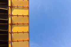 Roof with blue sky Stock Photos