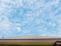 Roof and blue sky Royalty Free Stock Photo