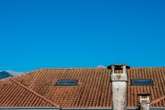 Chimneys and roof royalty free stock image