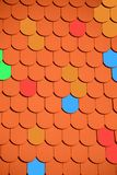 Roof, Brick, Colorful, Red, Roofing Royalty Free Stock Image