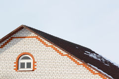 Roof brick house Stock Photo
