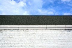 Roof and brick wall Stock Image