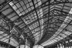 Roof of Brighton railway station Royalty Free Stock Photo