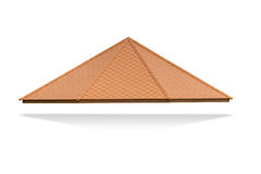 Roof with brown spire  on white background, Stock Photos