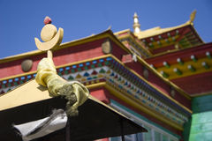 Roof of Buddhist temple. Fragment roof of Buddhist temple Royalty Free Stock Photography