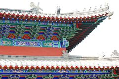 Roof of a Buddhist temple. Close up Royalty Free Stock Images