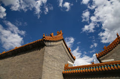 Roof of a Buddhist temple, Beijing, China Stock Photography