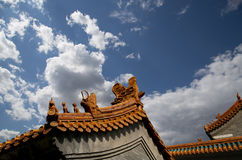 Roof of a Buddhist temple, Beijing, China Stock Photos