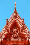 The roof of a Buddhist temple Stock Photography