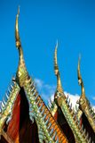 The roof of Buddhist temple in Thailand Stock Images