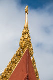 Roof of Buddhist temple in Thailand Royalty Free Stock Photography