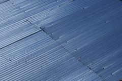 A roof build from metal royalty free stock image