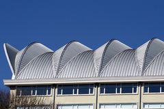 Roof of a building. With blue background Royalty Free Stock Images