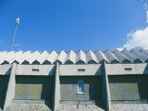 Roof of a building against a blue sky.  Royalty Free Stock Photos
