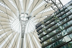 Roof / building detail of the Sony Center at Potsdamer Platz. BErlin, Germany - may 16, 2017: Building detail of the Sony Center at Potsdamer Platz in Berlin royalty free stock image