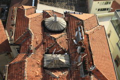 Roof of building in Istanbul Royalty Free Stock Image