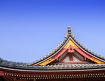 Roof of building japan style. Japanese traditional temple's roof elements stock images