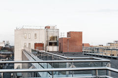 Roof of Building. In modern estate Stock Photo