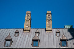 Roof of the building in Quebec City. In the summer day Stock Images