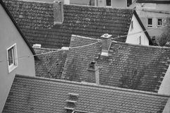 Roof of the buildings. Roof of the old buildings Stock Images