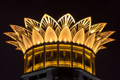 The roof of the bund center building on night,Shanghai. The roof of the  bund center building on night,Shanghai,China Stock Image