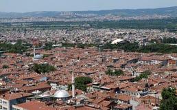 The roof of Bursa. The roof of Ottoman Capital City, Bursa Stock Photo
