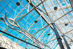 Roof of the business center. Royalty Free Stock Image