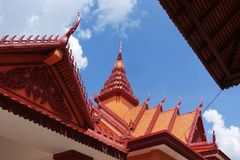 The roof of Cambodia. Cambodia is a Buddhist country in Southeast Asia. The design of the top of the house is similar to that of other East Asian countries , but royalty free stock photography