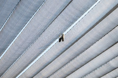 Roof canopy fabric arranged straight line Royalty Free Stock Image