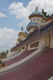 Roof of Cao Dai Temple Stock Photos