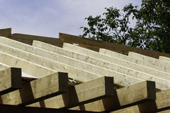 Roof carpentry. In plain sun Royalty Free Stock Photos