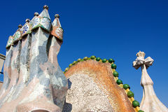 Roof of Casa Batlló Stock Photos