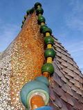 Roof of Casa Batllo in Barcelona Royalty Free Stock Photography