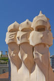 Roof of Casa Mila Royalty Free Stock Images
