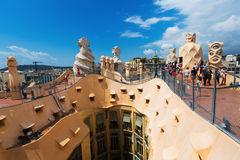 Roof of Casa Mila Royalty Free Stock Photography