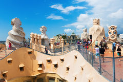 Roof of Casa Mila Royalty Free Stock Image