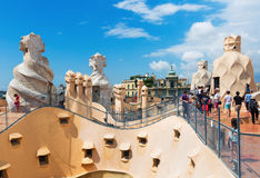 Roof of Casa Mila Stock Photography