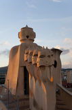 The roof of Casa Mila Royalty Free Stock Photos
